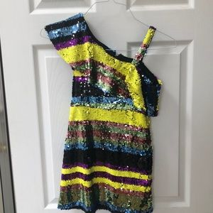 Sequin girls party dress